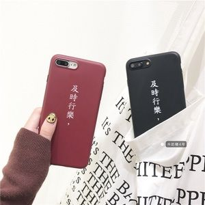iPhone 7/8 Plus Case Chinese Characters Red